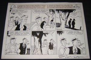 9: Cartoonist Morris Comical Drawing
