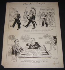 11: Rare Editorial Cartoonist Norman, Signed Drawing