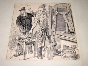 17: F. Graetz Cartoonist 1884 Drawing