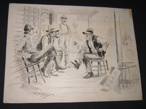 18: Cartoonist Ehrhart 1891 Hillbillies Drawing