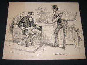 22: Cartoonist F.M. Hutchins 1894 Drawing