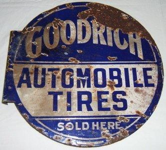 101: Antique Advertising Sign Goodrich Automobile Tires