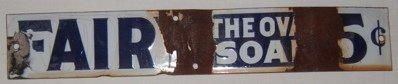 104: Antique Advertising Sign Fairy Soap