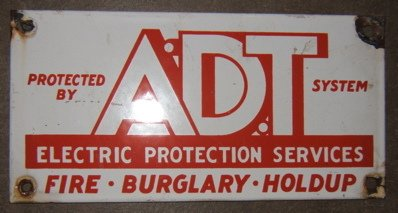 106: Advertising Sign ADT-Fire-Burglary-Hold UP