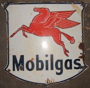 111: Antique Mobilgas Special Advertising Sign