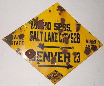 112: Antique Historical Highway Sign