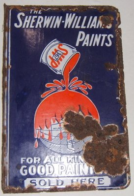 113: Antique Sherwin Williams Advertising Sign