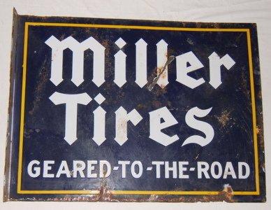 115: Antique Miller Automobile Tires Sign