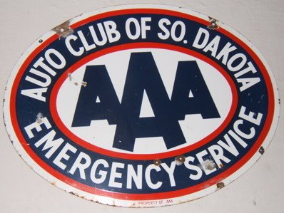 117: Antique AAA Automobile Emergency Advertising Sign