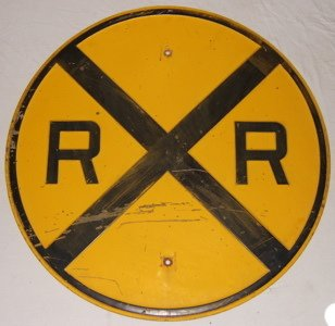 123: Antique Railroad Crossing Sign