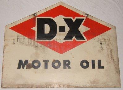 124: Antique D-X Motor Oil Advertising Sign