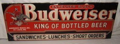 144: Antique Anheuser-Busch Budweiser Sign
