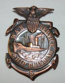17: War Service Ship Building USA Badge