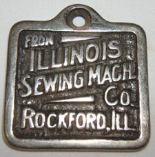 21: Sewing Machine Plaque, Rockford, Ill