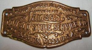 22: Lamson Store Service Brass Plaque
