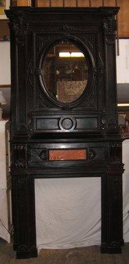213: Italian Massive Heavily Carved Fireplace