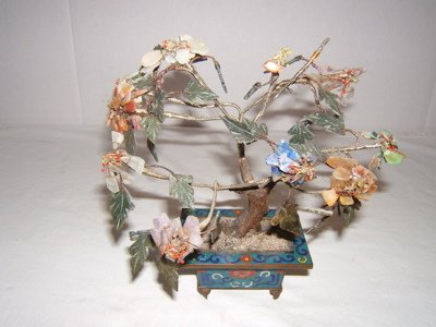 311: Chinese Jade Tree with Cloisonné