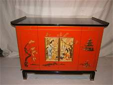 345: Asian Zenith TV Carved Cabinet