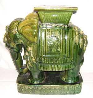 394 Antique Chinese Ceramic Elephant Stool