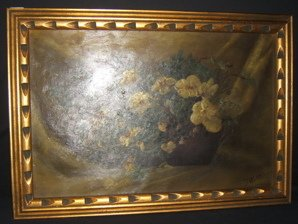 8: Antique Oil on Canvas Painting 1888