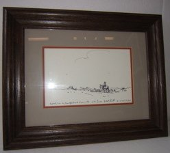 21: Taos Scene Drawing by A. Kelly Pruett