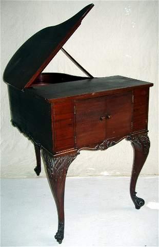 Mahogany Baby Grand Piano Cabinet