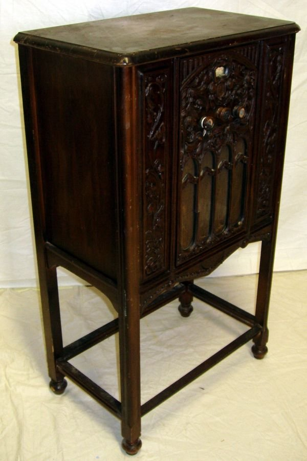 3: Walnut Carved Stereo Cabinet