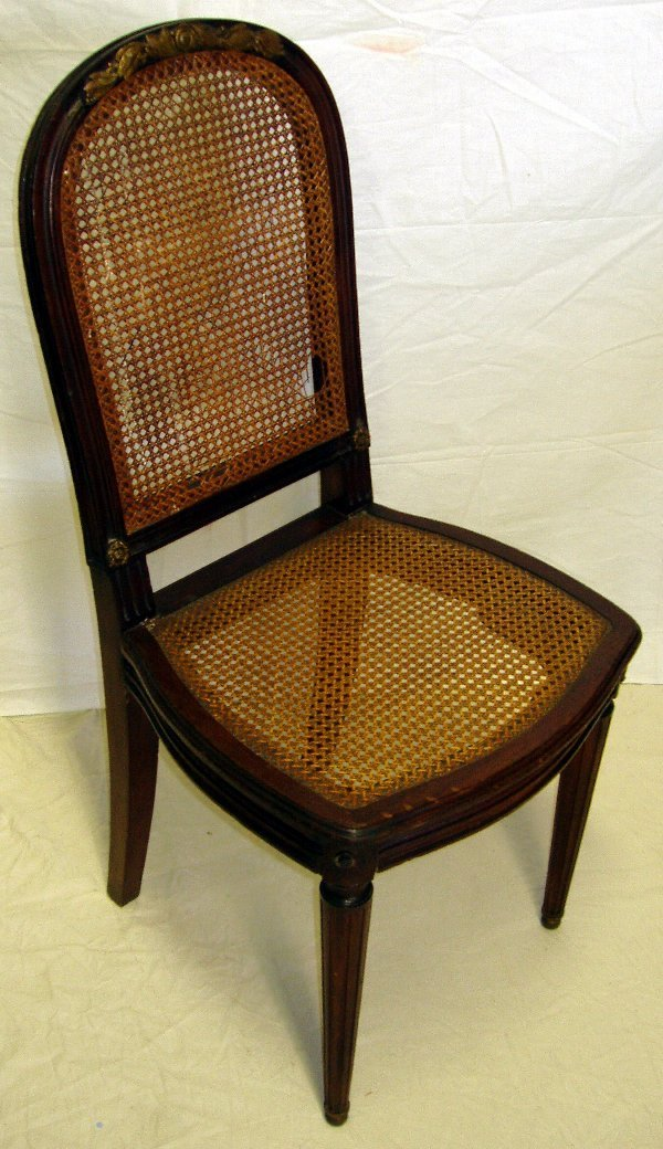 4: French Dore Bronze Cain Chair