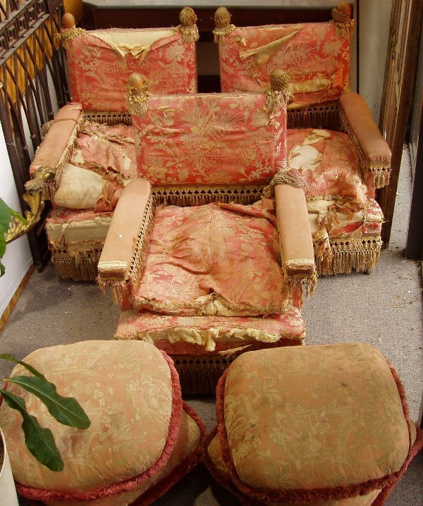 10: 3 Chairs w/Ottomans
