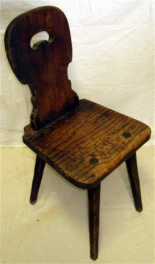 Early Period Pegged & Keyed Chair