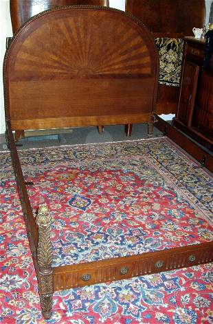 French Style Walnut Bed