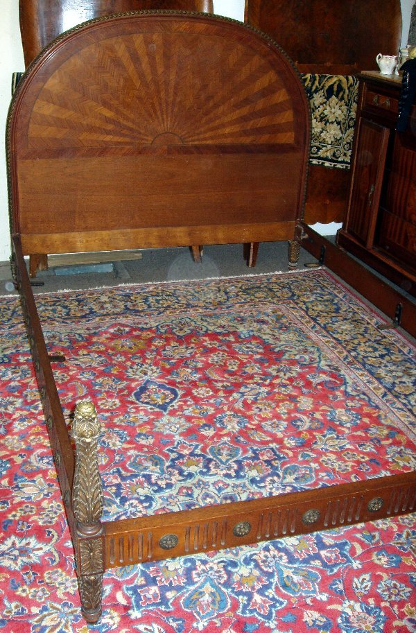 15: French Style Walnut Bed