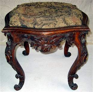 Carved French Stool