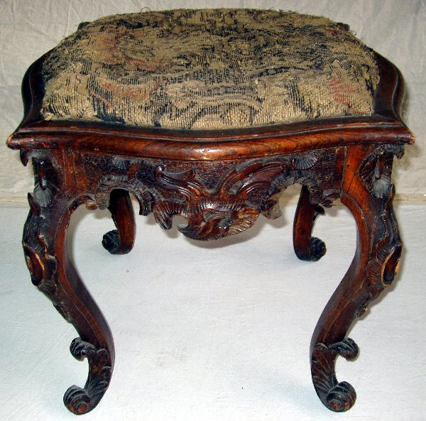 16: Carved French Stool