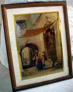 """Oleografia Borzino """"Milano"""" on Canvas"""