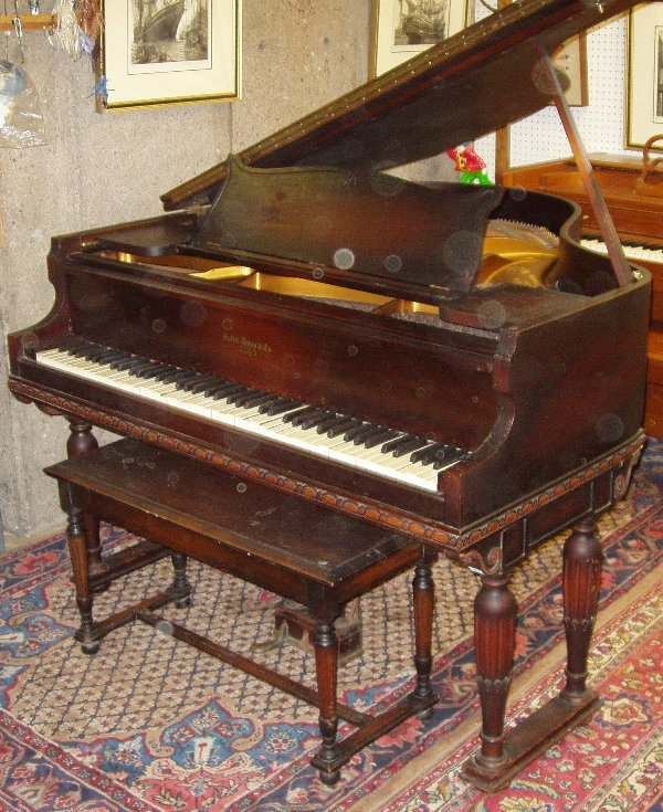 "48: Baby Grand Piano ""Hallet Davis & Co."""