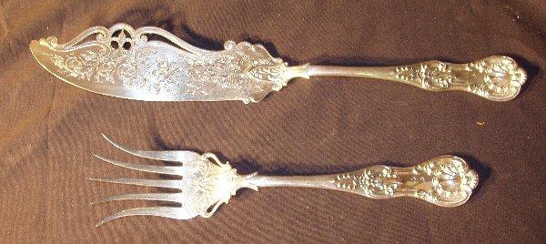 1010: Silver Plate Knife & Fork