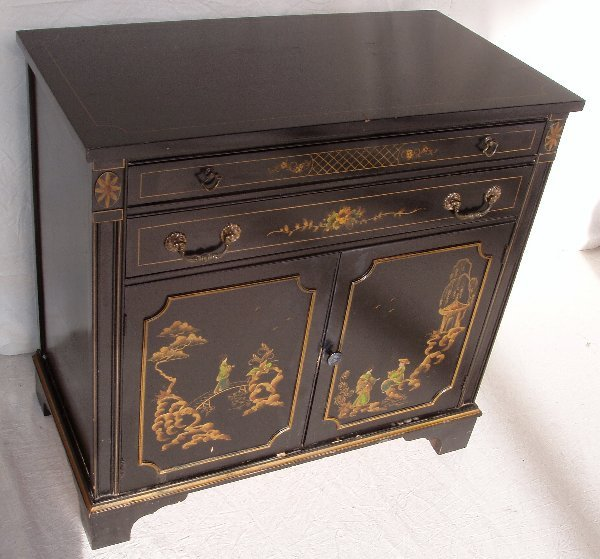 1024: Oriental Black Lacquered Cabinet