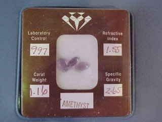 11: 3 Amethyst Stones