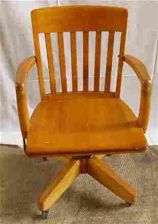 Golden Oak Office Swivel Desk Chair