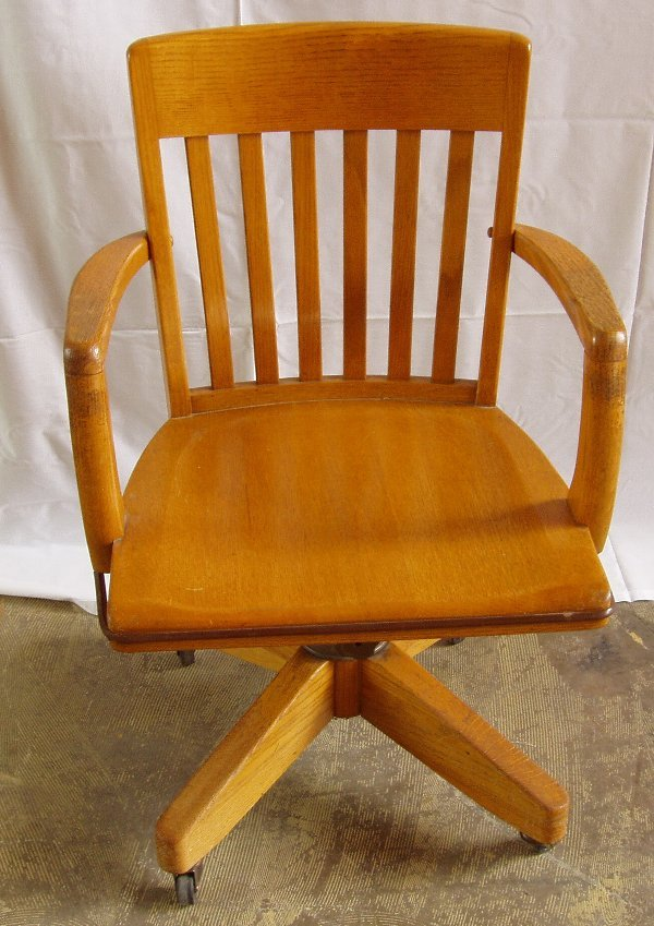 2002: Golden Oak Office Swivel Desk Chair
