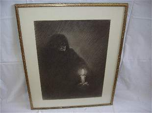 Picture of Old Woman Dressed in Black,