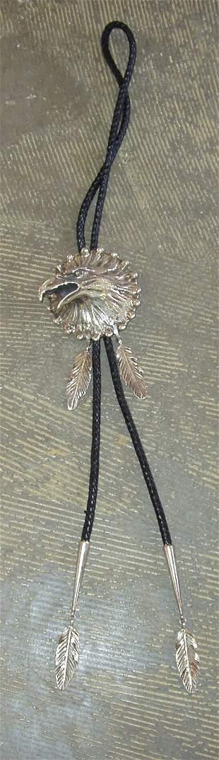 Sterling Silver Eagle Bolo tie