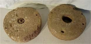 2 Italian Antique Stone Wheels