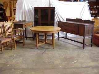2100: Stickley Bros. Mission Dng. Rm. Set