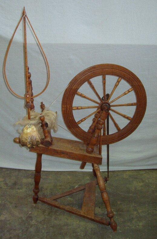 18: Circa. 1701 Spinning Wheel
