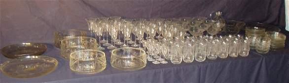 107: Crystal Stemware Set 108 Pieces