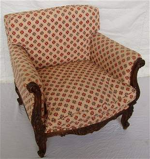 Turn of the Century Carved French Arm Chair