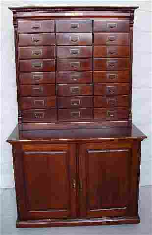 Wabash the Improved Rival Filling Cabinet, Signed