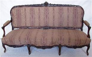 Victorian Heavily Carved Rosewood Sofa